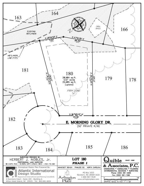 Arlington Place Homesite 180 property plat map image.