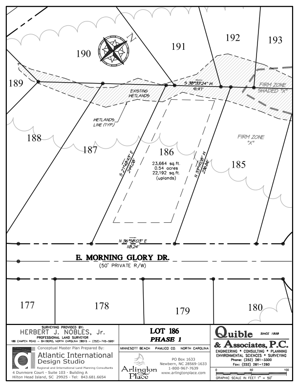 Arlington Place Homesite 186 property plat map image.