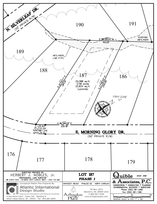 Arlington Place Homesite 187 property plat map image.