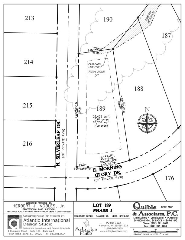 Arlington Place Homesite 189 property plat map image.