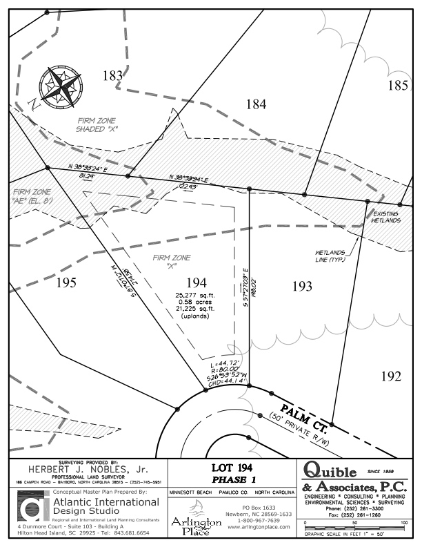Arlington Place Homesite 194 property plat map image.