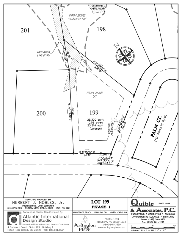Arlington Place Homesite 199 property plat map image.