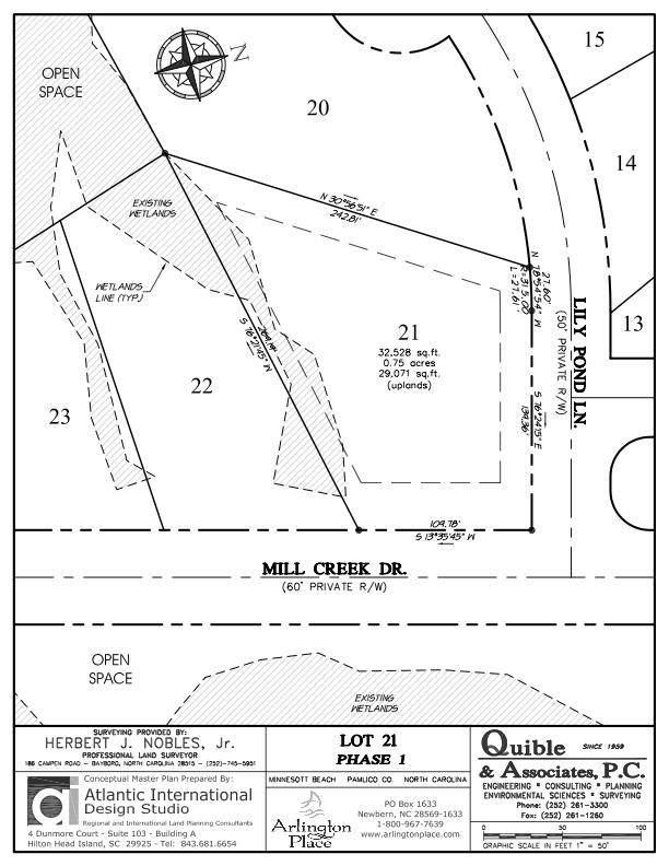 Arlington Place Homesite 21 property plat map image.