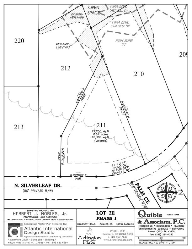 Arlington Place Homesite 211 property plat map image.