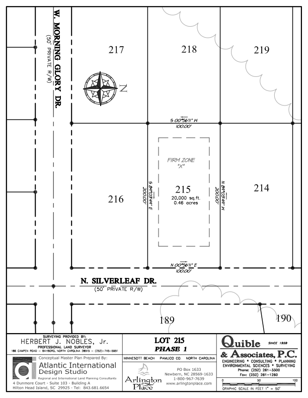 Arlington Place Homesite 215 property plat map image.