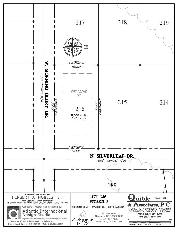 Arlington Place Homesite 216 property plat map image.