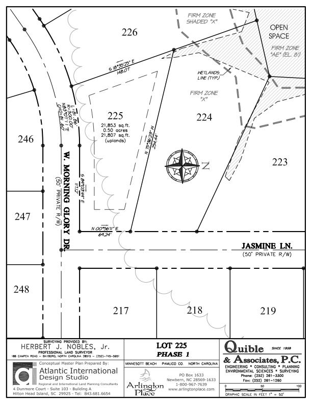 Arlington Place Homesite 225 property plat map image.