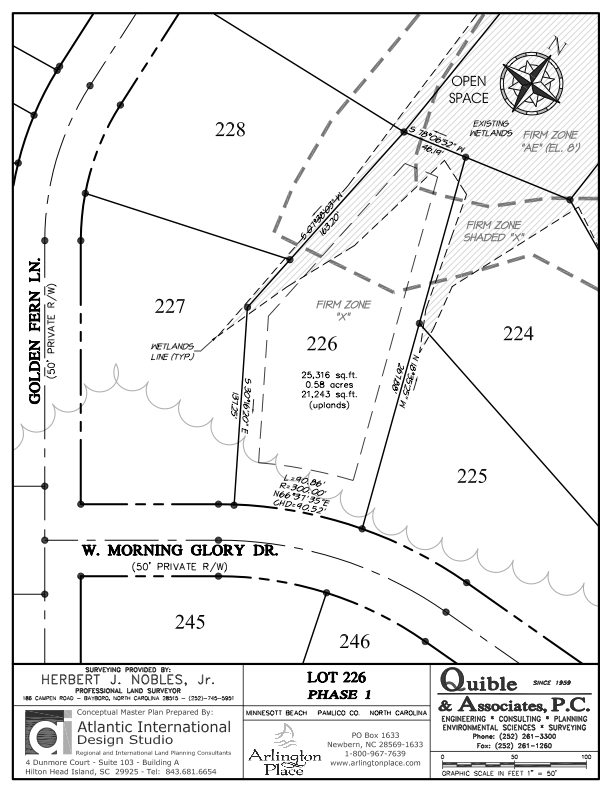 Arlington Place Homesite 226 property plat map image.