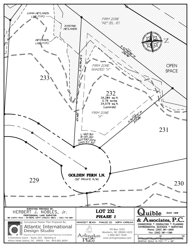 Arlington Place Homesite 232 property plat map image.