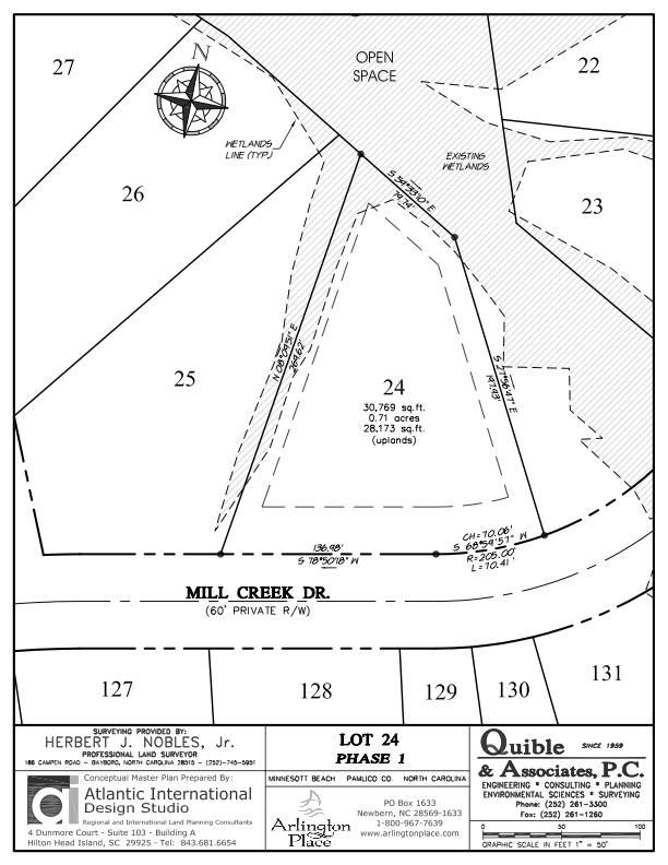Arlington Place Homesite 24 property plat map image.