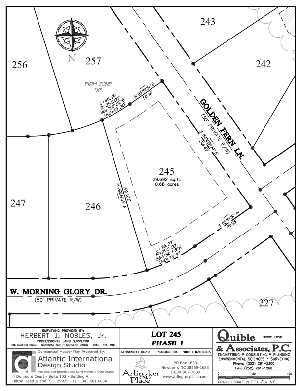 Arlington Place Homesite 245 property plat map image.