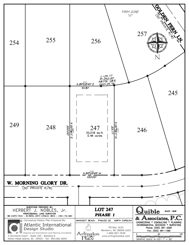 Arlington Place Homesite 247 property plat map image.