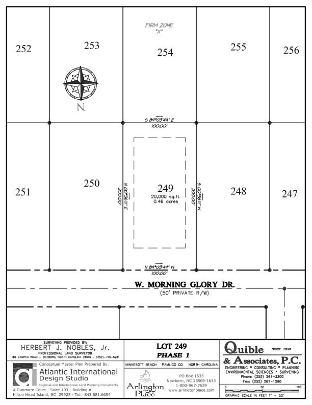 Arlington Place Homesite 249 property plat map image.