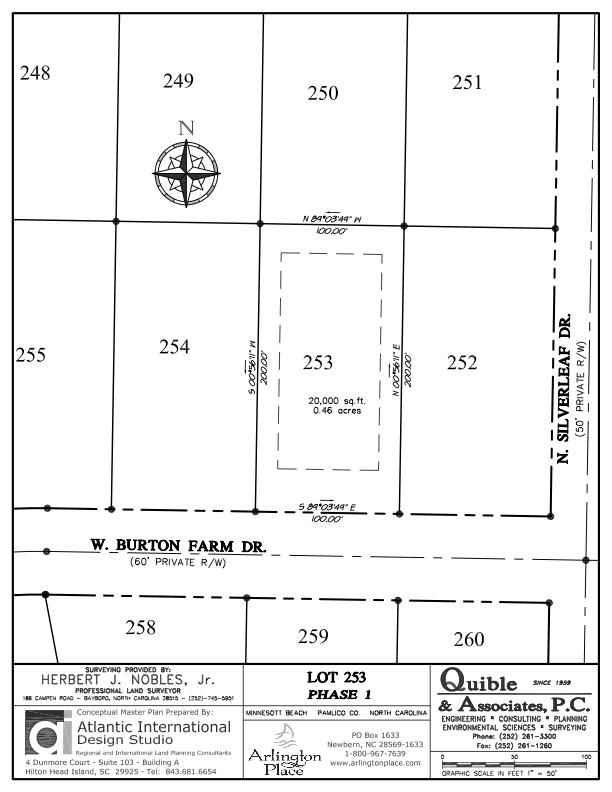 Arlington Place Homesite 253 property plat map image.