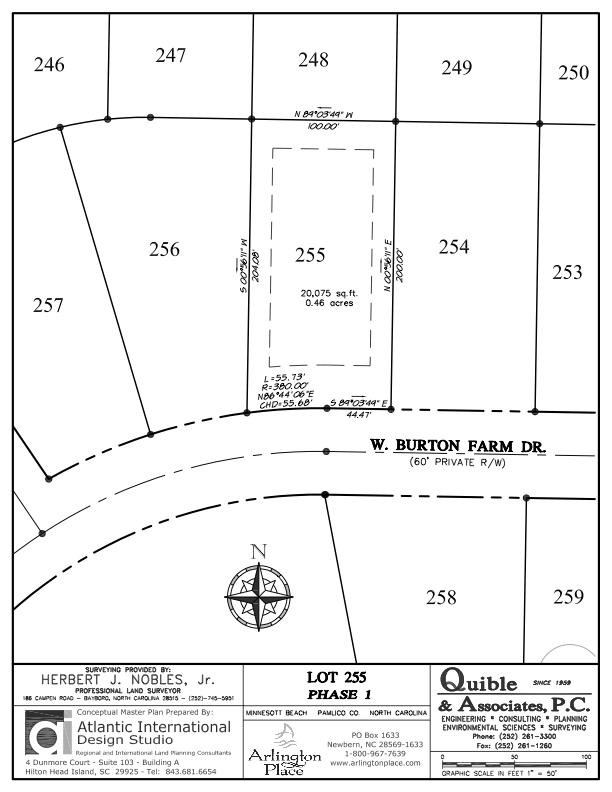 Arlington Place Homesite 255 property plat map image.