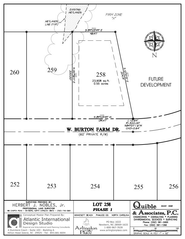 Arlington Place Homesite 258 property plat map image.