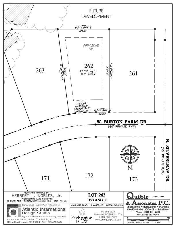 Arlington Place Homesite 262 property plat map image.