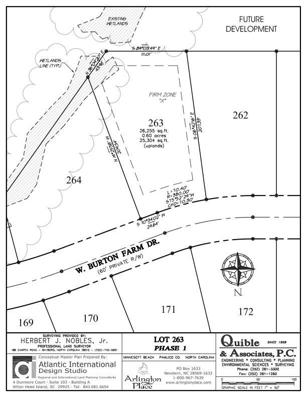 Arlington Place Homesite 263 property plat map image.