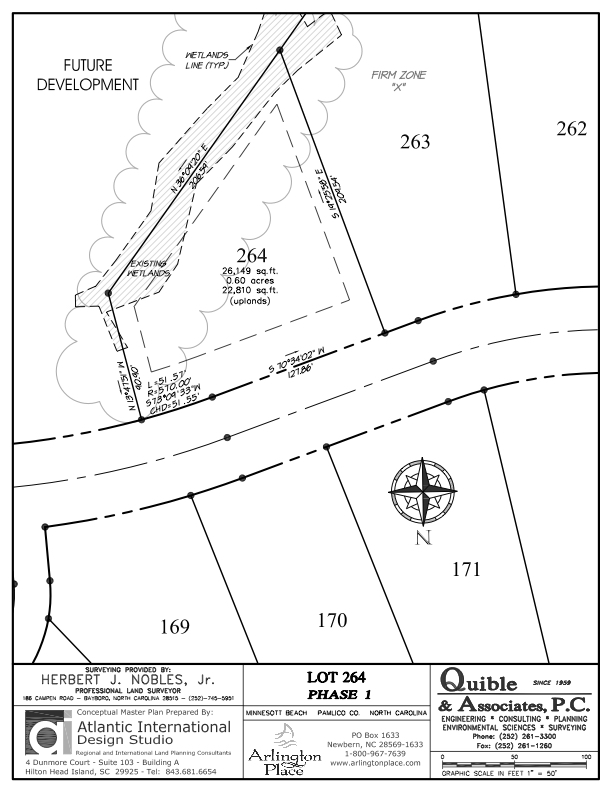 Arlington Place Homesite 264 property plat map image.
