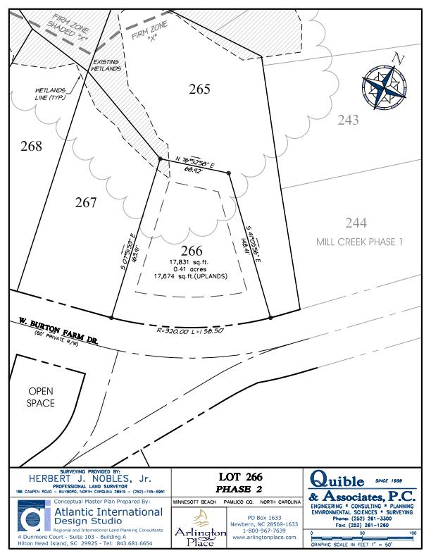 Arlington Place Homesite 266 property plat map image.