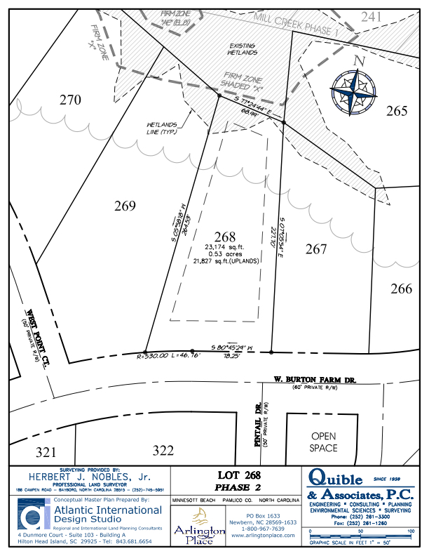 Arlington Place Homesite 268 property plat map image.