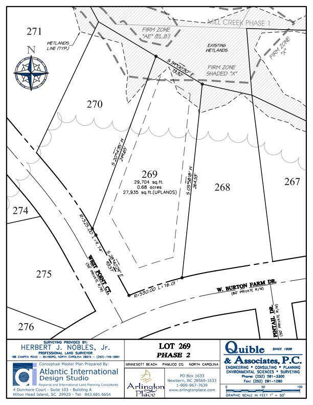 Arlington Place Homesite 269 property plat map image.