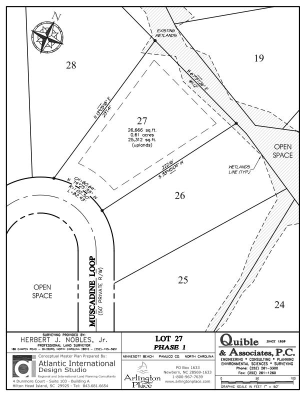 Arlington Place Homesite 27 property plat map image.