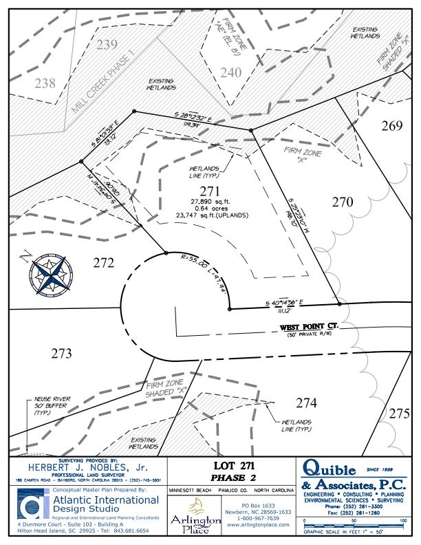 Arlington Place Homesite 271 property plat map image.