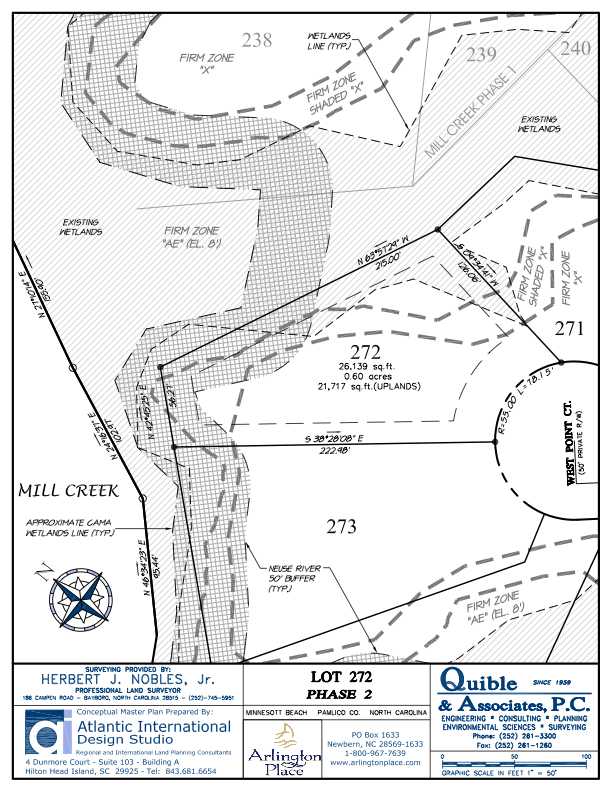 Arlington Place Homesite 272 property plat map image.