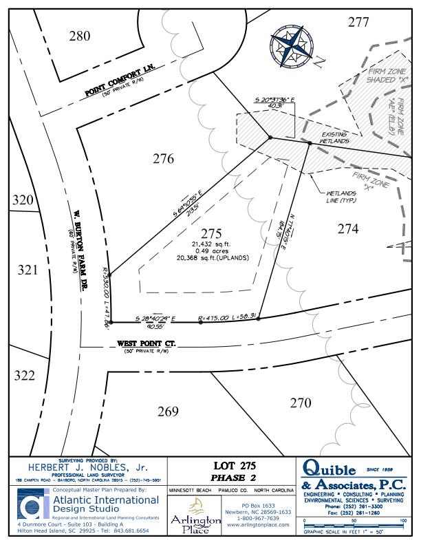 Arlington Place Homesite 275 property plat map image.