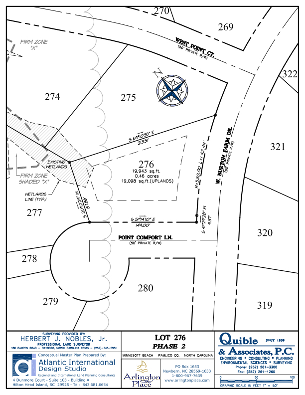 Arlington Place Homesite 276 property plat map image.