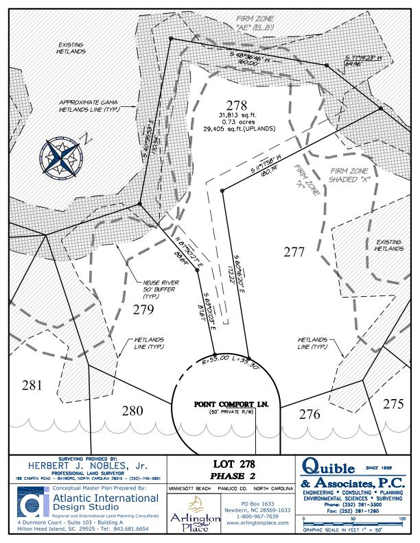 Arlington Place Homesite 278 property plat map image.