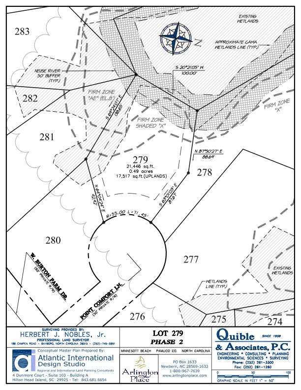 Arlington Place Homesite 279 property plat map image.