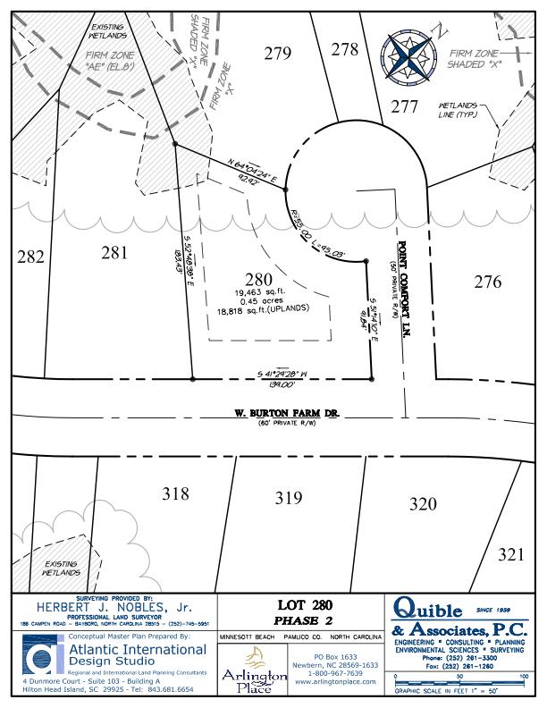 Arlington Place Homesite 280 property plat map image.