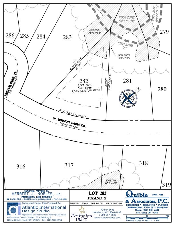 Arlington Place Homesite 282 property plat map image.