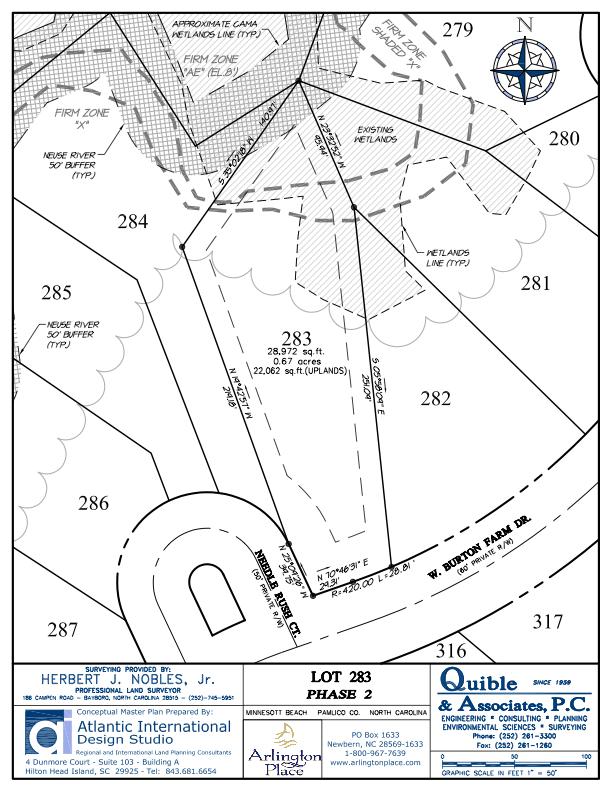 Arlington Place Homesite 283 property plat map image.