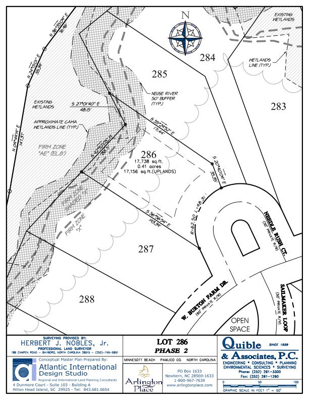 Arlington Place Homesite 286 property plat map image.