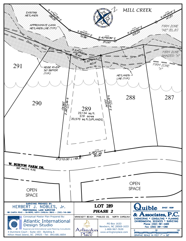 Arlington Place Homesite 289 property plat map image.
