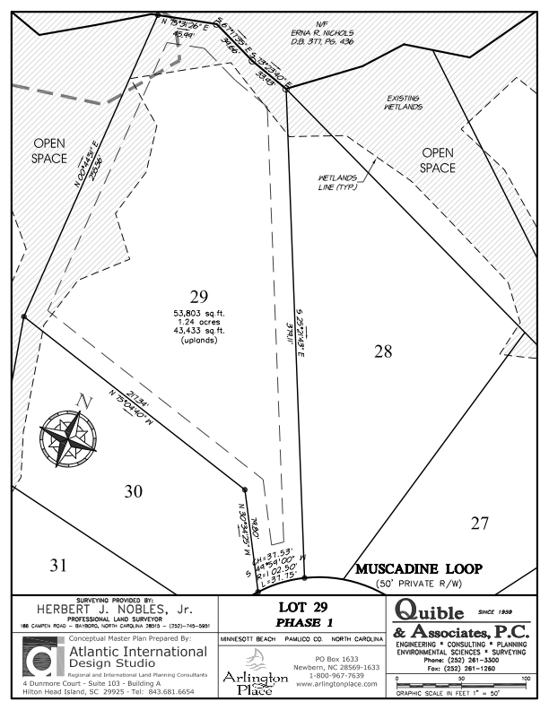 Arlington Place Homesite 29 property plat map image.