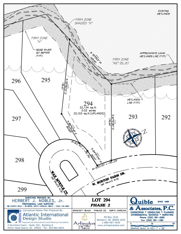 Arlington Place Homesite 294 property plat map image.
