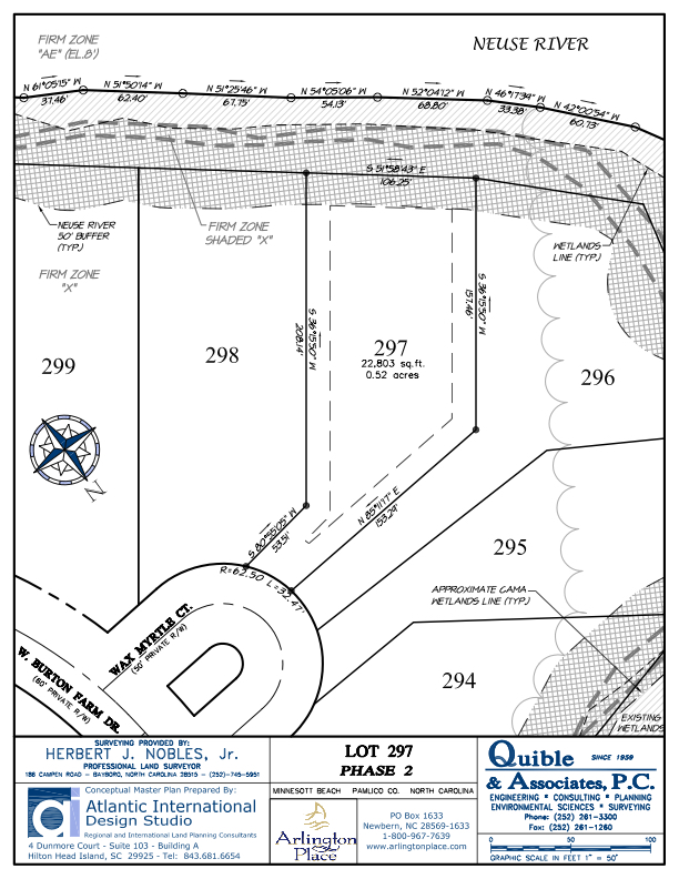 Arlington Place Homesite 297 property plat map image.