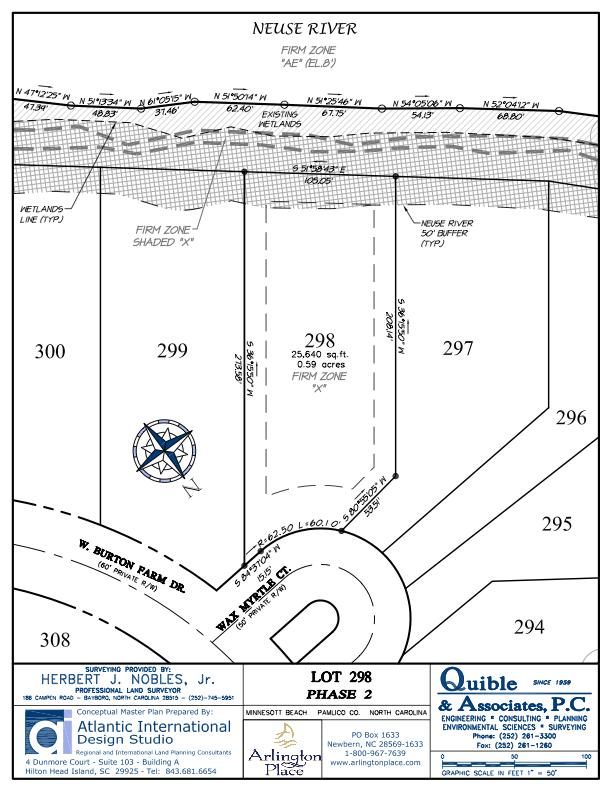 Arlington Place Homesite 298 property plat map image.