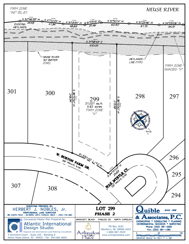 Arlington Place Homesite 299 property plat map image.