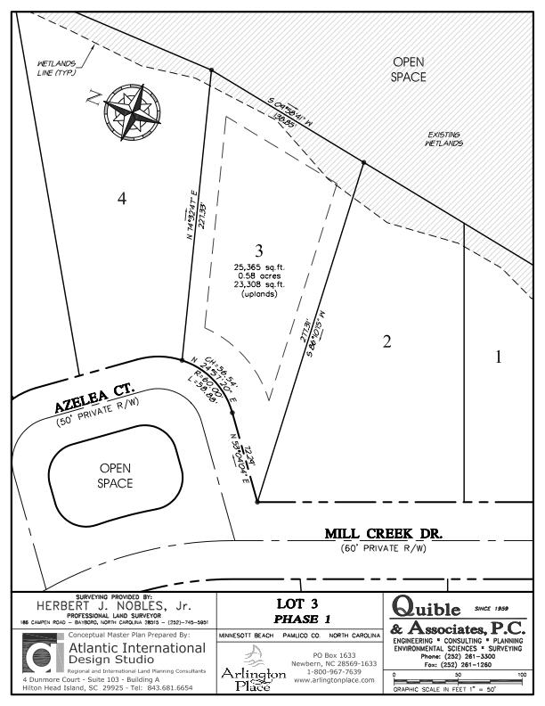 Arlington Place Homesite 3 property plat map image.