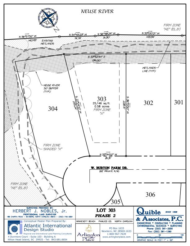 Arlington Place Homesite 303 property plat map image.