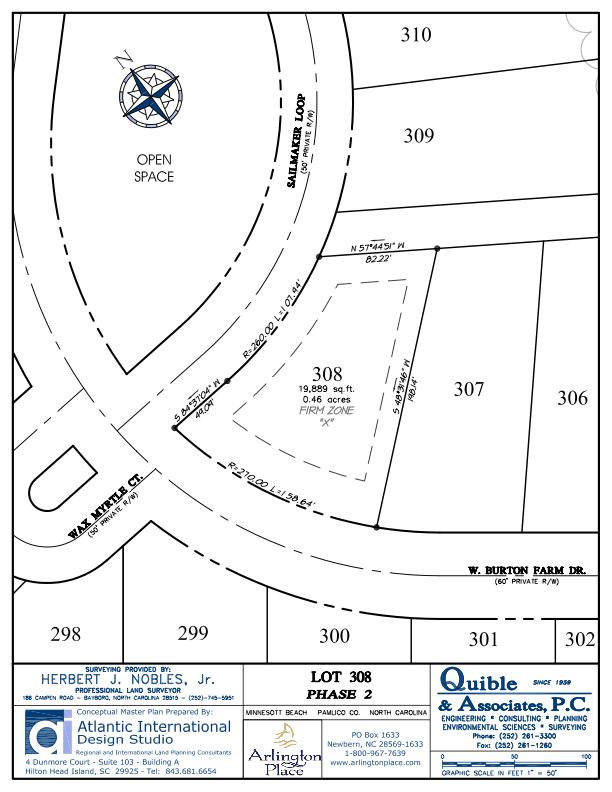 Arlington Place Homesite 308 property plat map image.