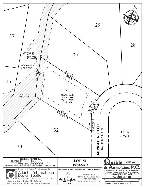Arlington Place Homesite 31 property plat map image.