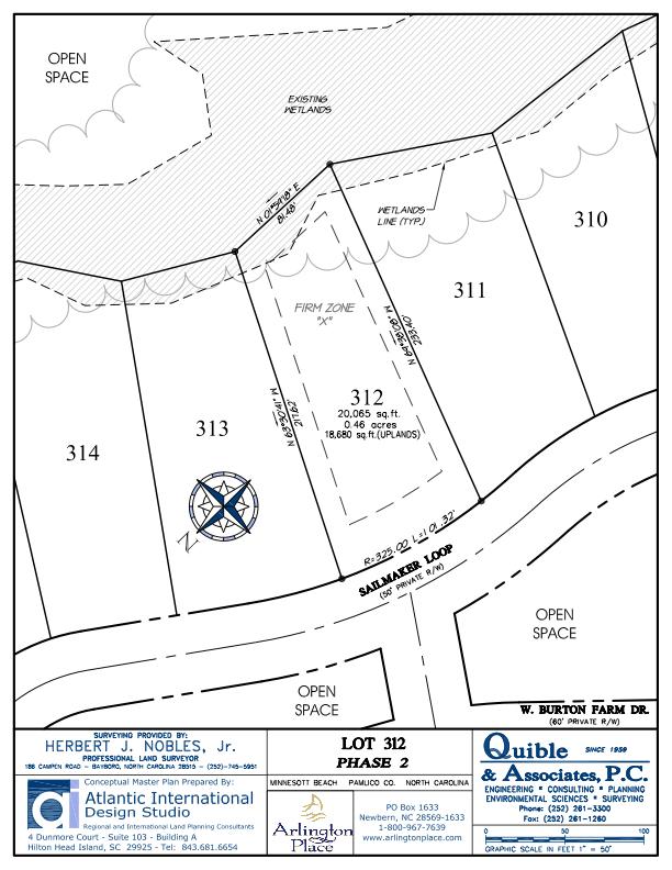 Arlington Place Homesite 312 property plat map image.