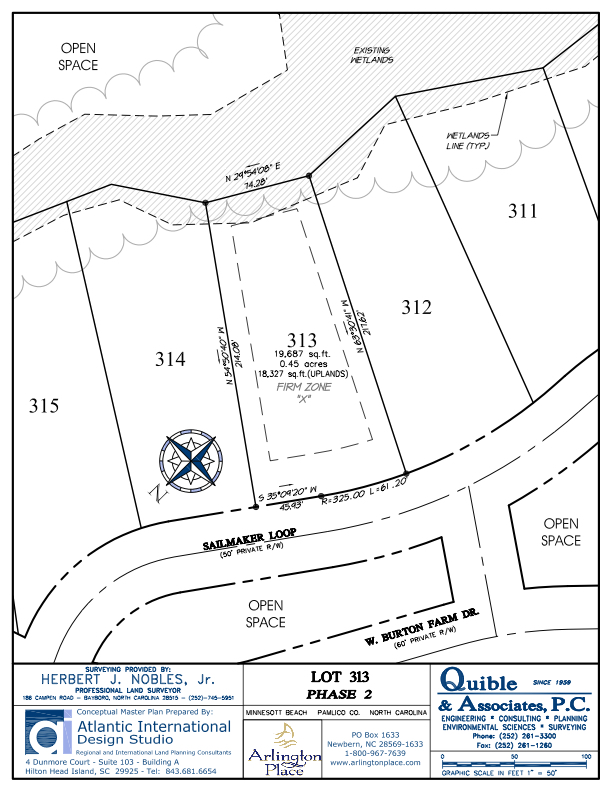 Arlington Place Homesite 313 property plat map image.