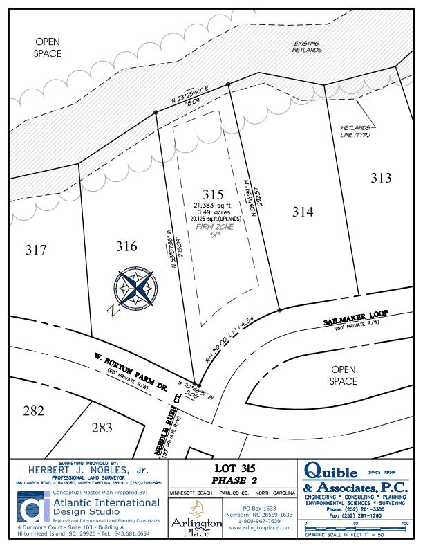 Arlington Place Homesite 315 property plat map image.